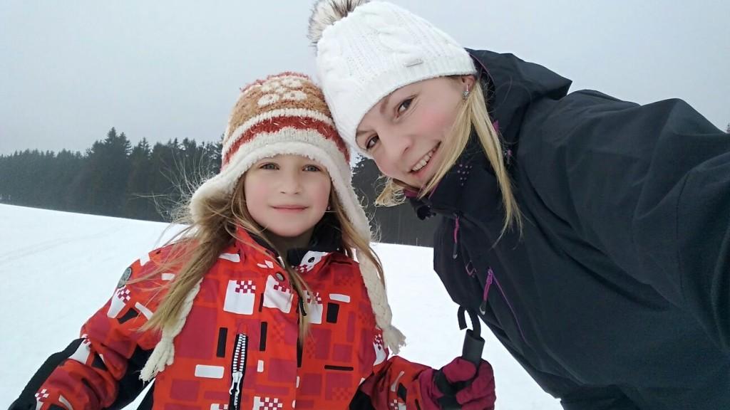 Soustředění Sklené 2017   Biatlon   Eliška a Renata
