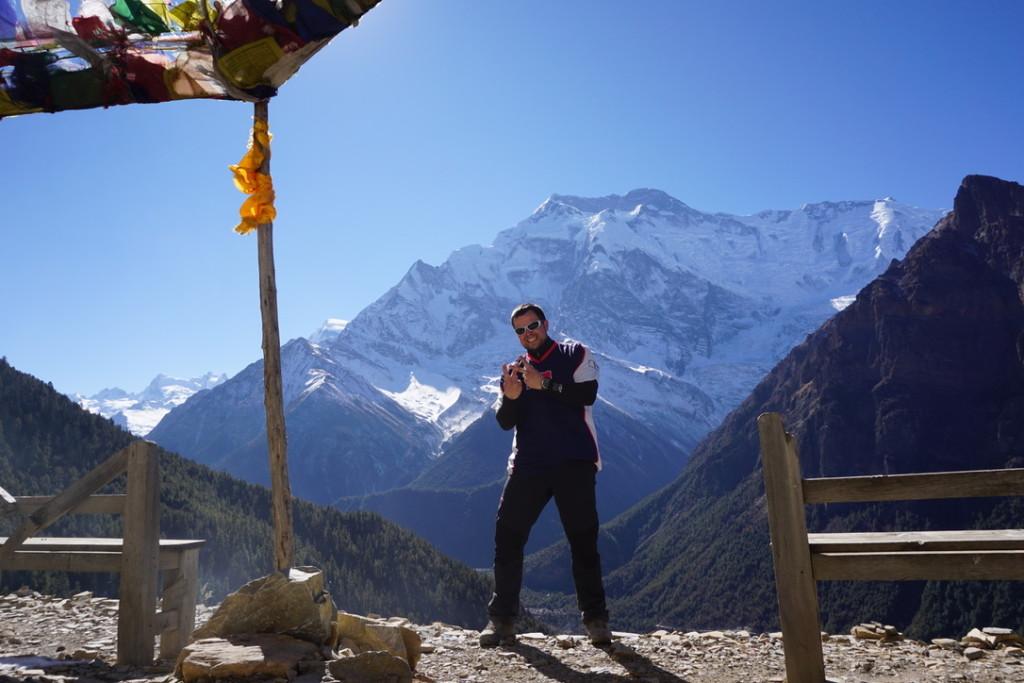 Nepál | Výhled na Annapurnu II. (7.937m n m.) a Kubajse